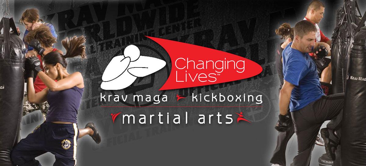Changing Lives Krav Maga image of people kicking